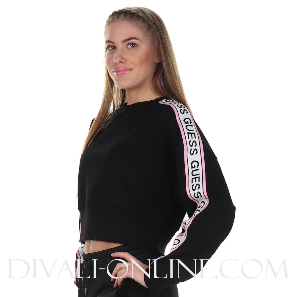 Cropped Sweater Hedda Fleece Noir De Jais