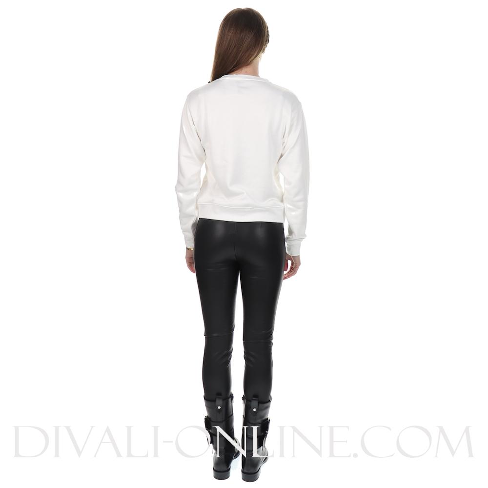 Sweater Basic Triangle Fleece Blanc Pur