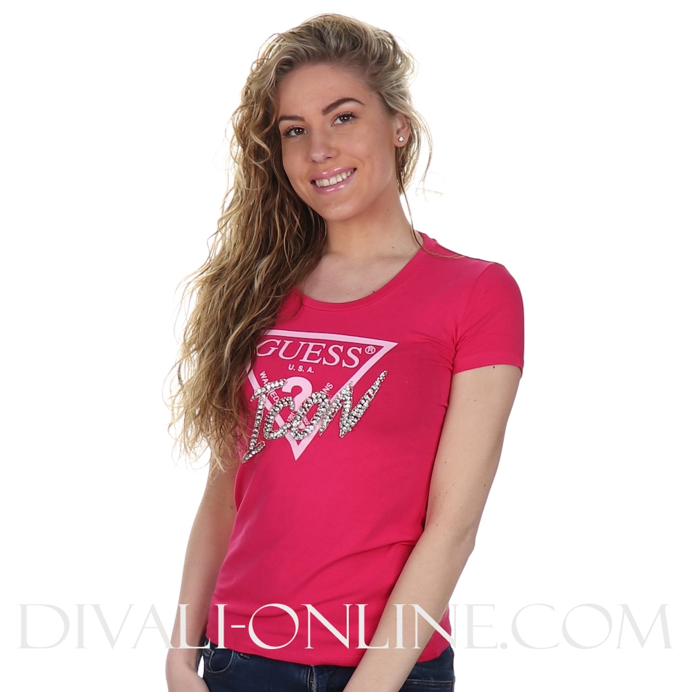 T-shirt Strass Logo Pink Seduction