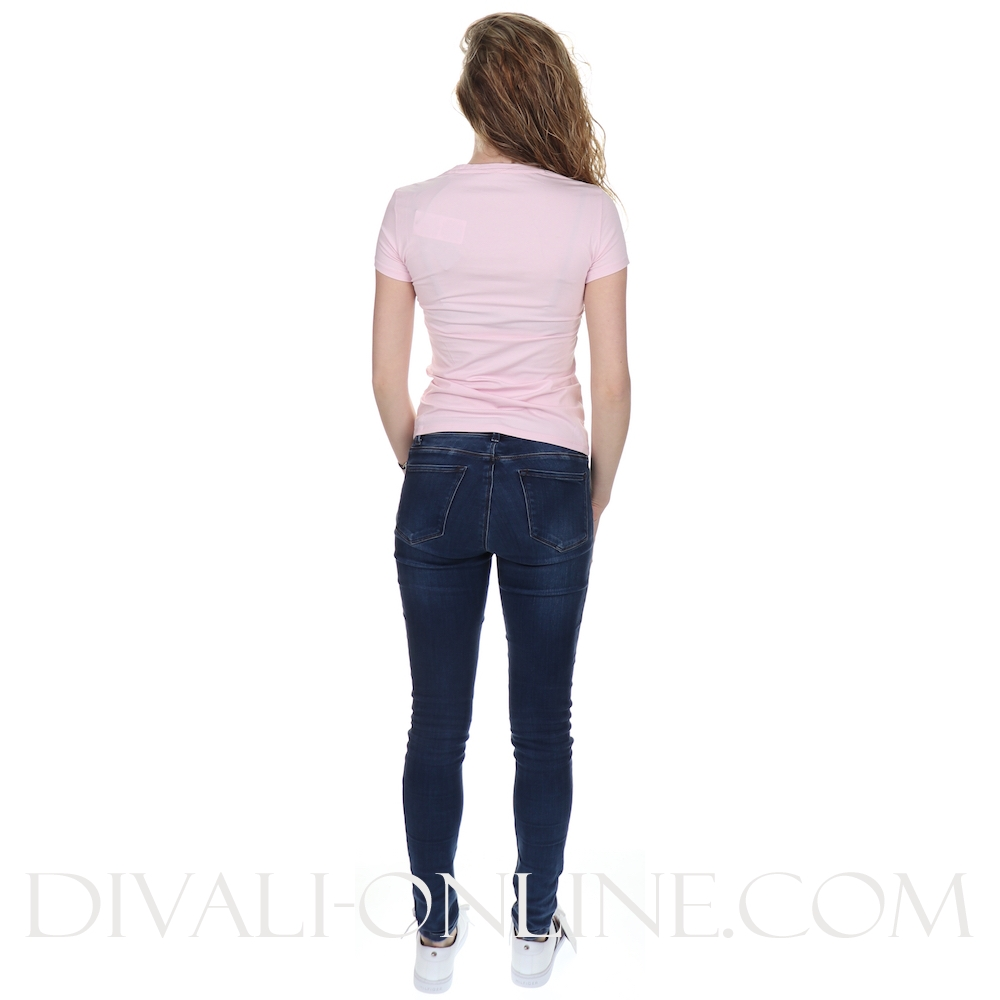 T-shirt Strass Logo Pink Resort