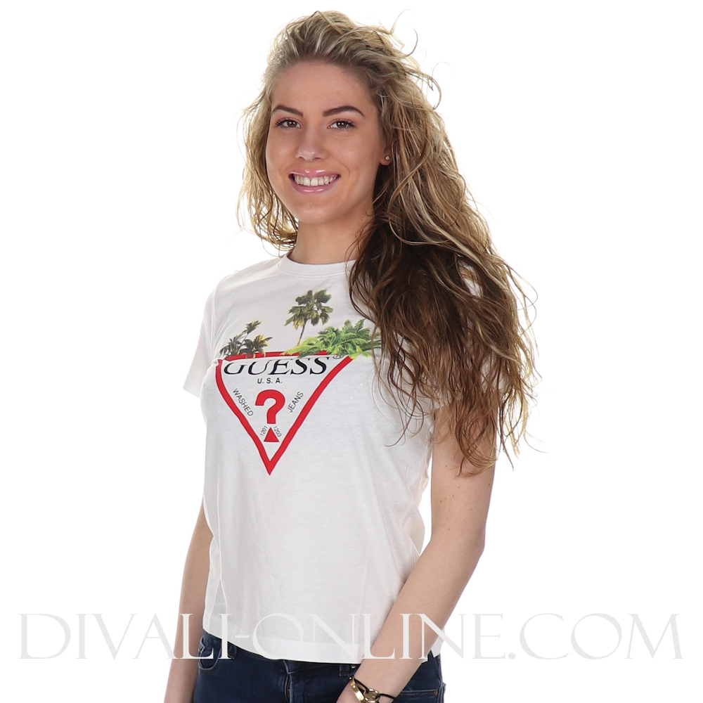 T-shirt Palmtree Logo True White