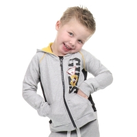 Guess Kids Hooded Top Light Heather Grey