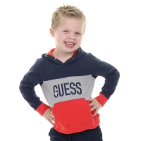 Guess Kids Hooded Active Top Red And Navy