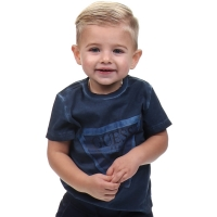 Guess Kids Ss T-shirt Bleu/deck Blue