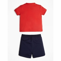 Guess Kids Set Ss T-shirt Shorts Orange