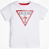Guess Kids Ss T-shirt True White