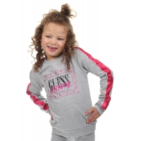 Guess Kids Hooded Active Top Light Heather Grey