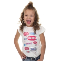 Guess Kids Ss T-shirt White Clay
