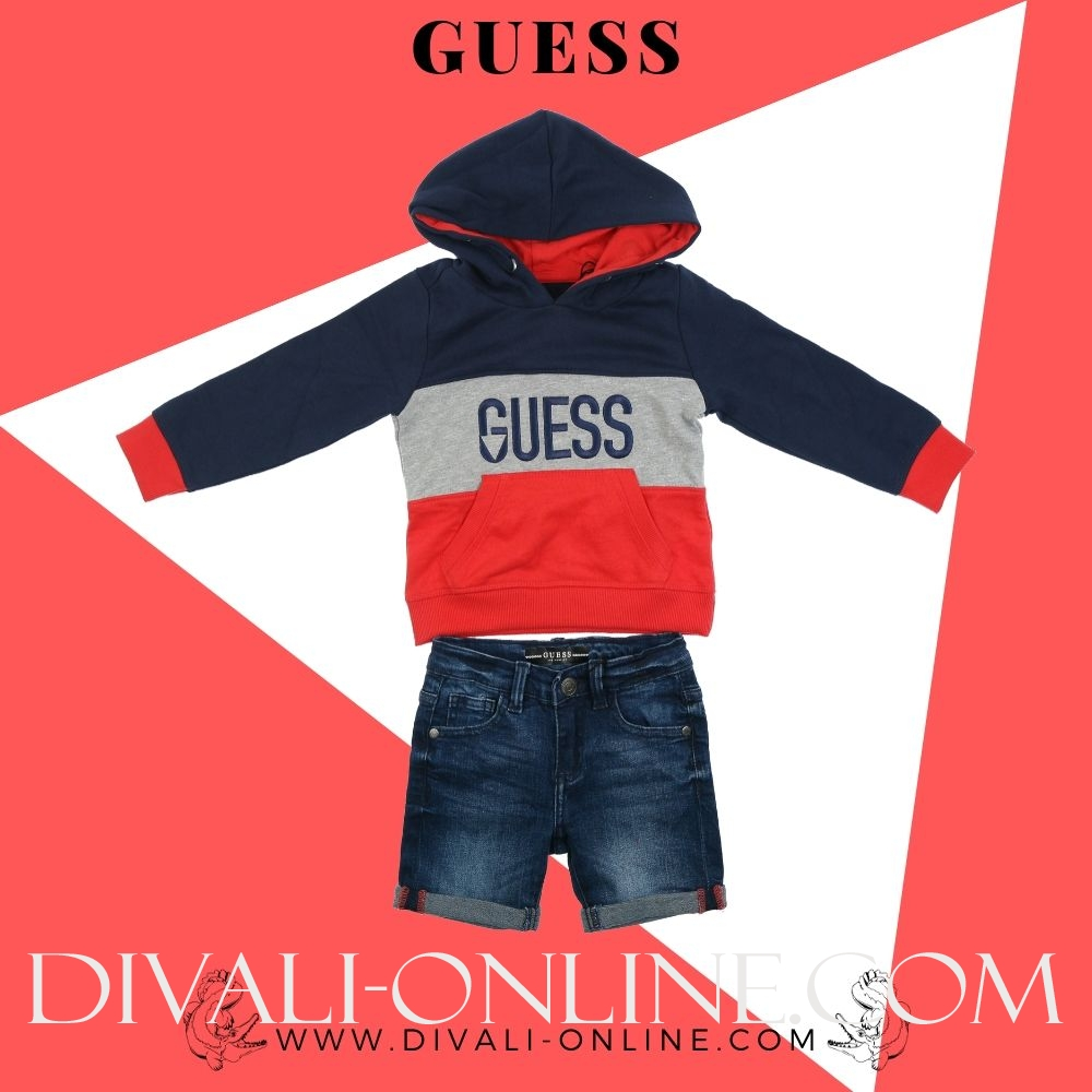 Hooded Active Top Red And Navy