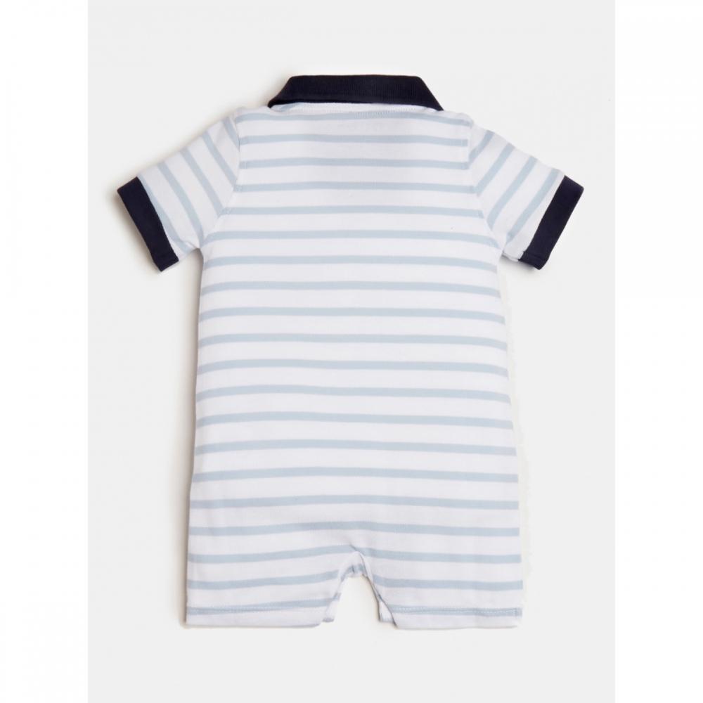 Shortie White/blue Stripes