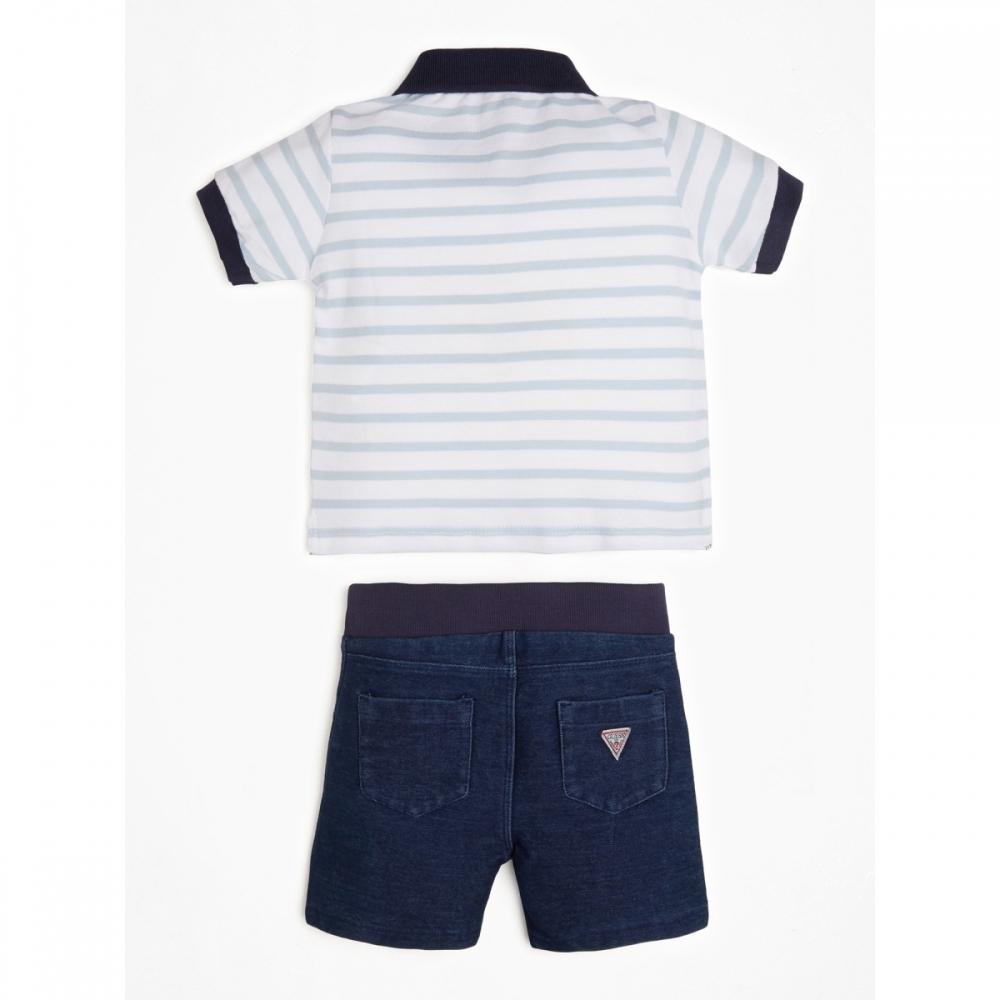 Set White/blue Stripes