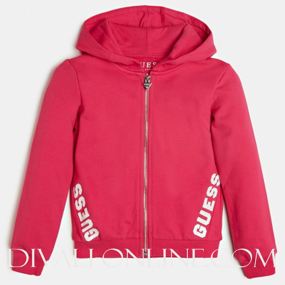 Hooded Active Top W/zip Rouge/shocking Pink