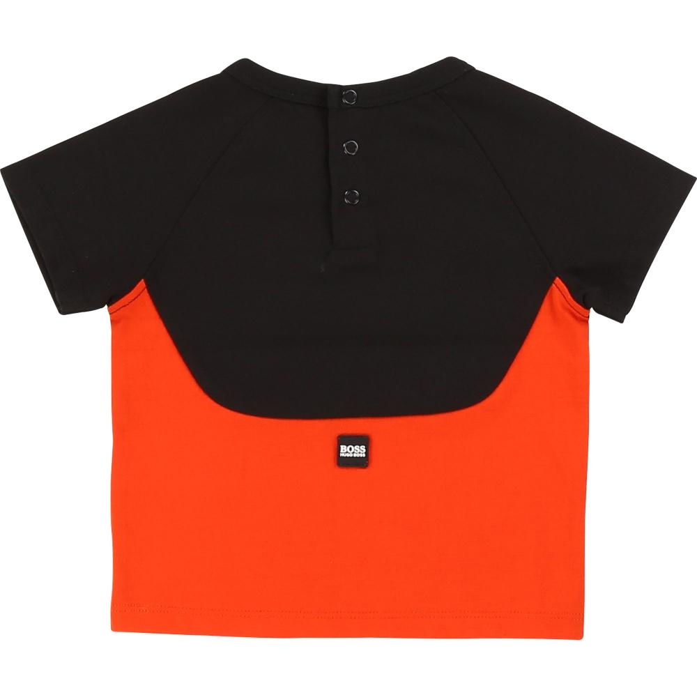 T-shirt Korte Mouwen Zwart  Rood