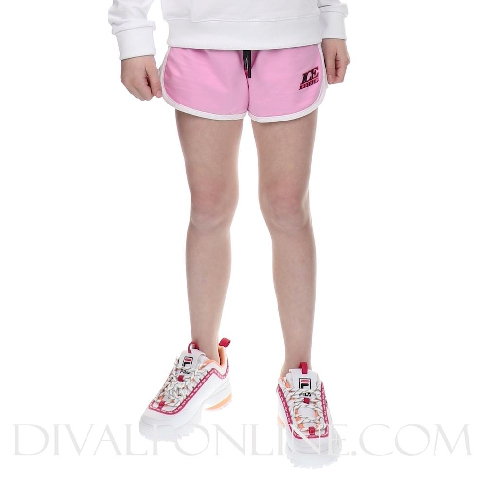 Shorts In Felpa Rosa