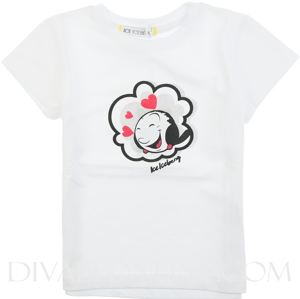 T-shirt In Jersey Bianco