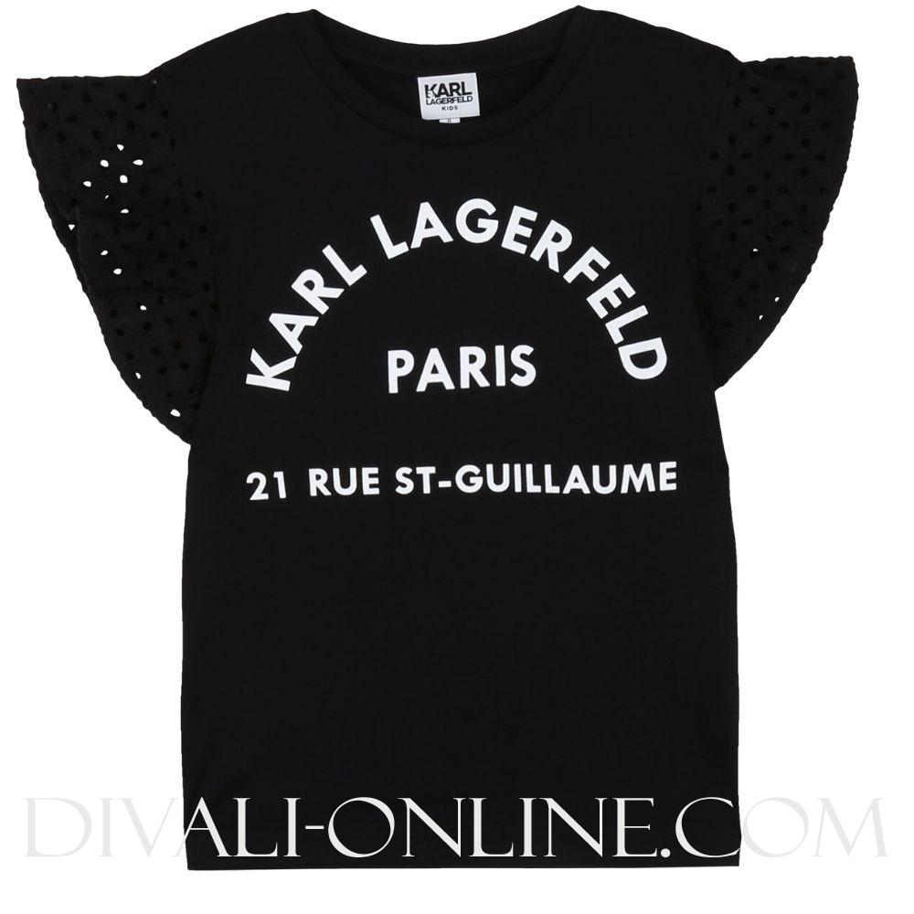 T-shirt Korte Mouwen Zwart