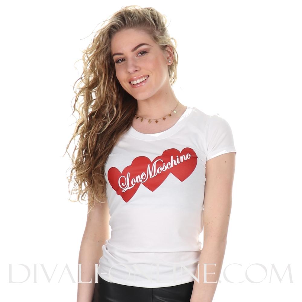 T-shirt Hearts Optical White