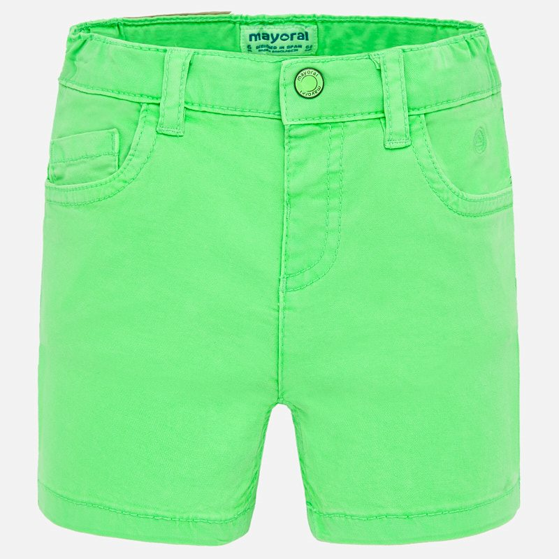 Basic 5 pockets twill shorts apple
