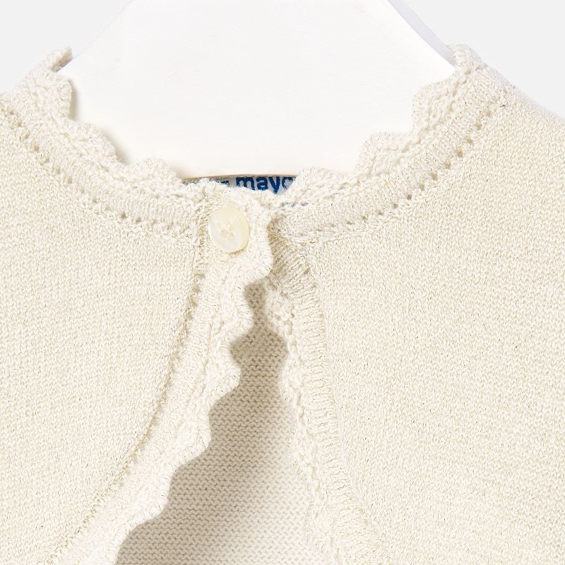 Basic knitted cardigan sand