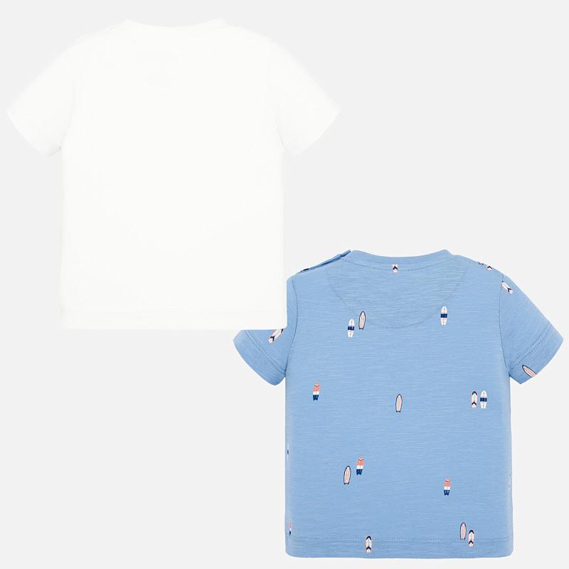Set of 2 s/s stamp t-shirt sky