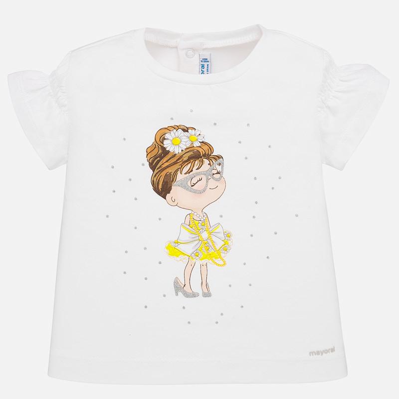 S/s t-shirt white yell