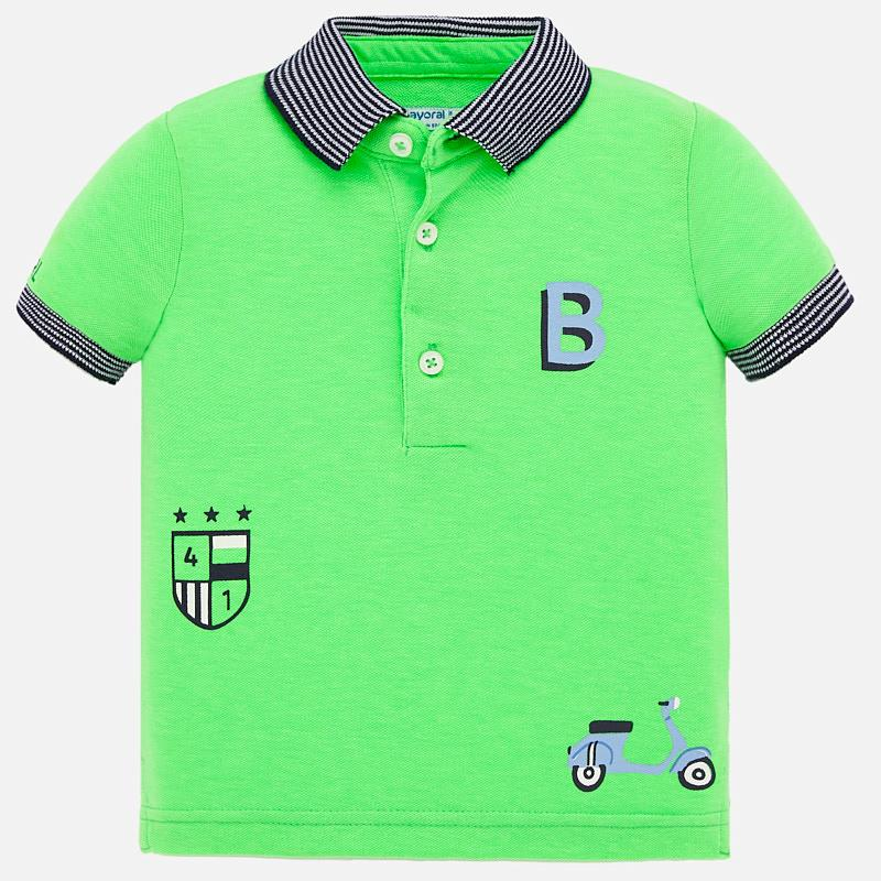 Polo s/s serigraphs apple