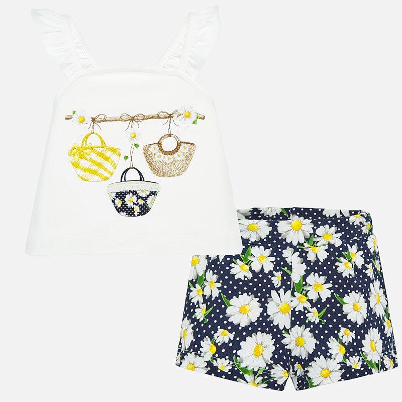 Printed shorts set navy