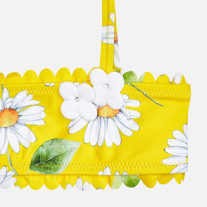 Flowers bikini yellow