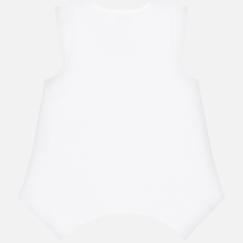 Sleveless butterfly shirt white