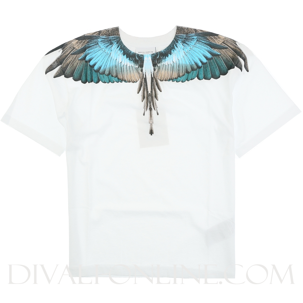 T-shirt wings Turquoise  Withe