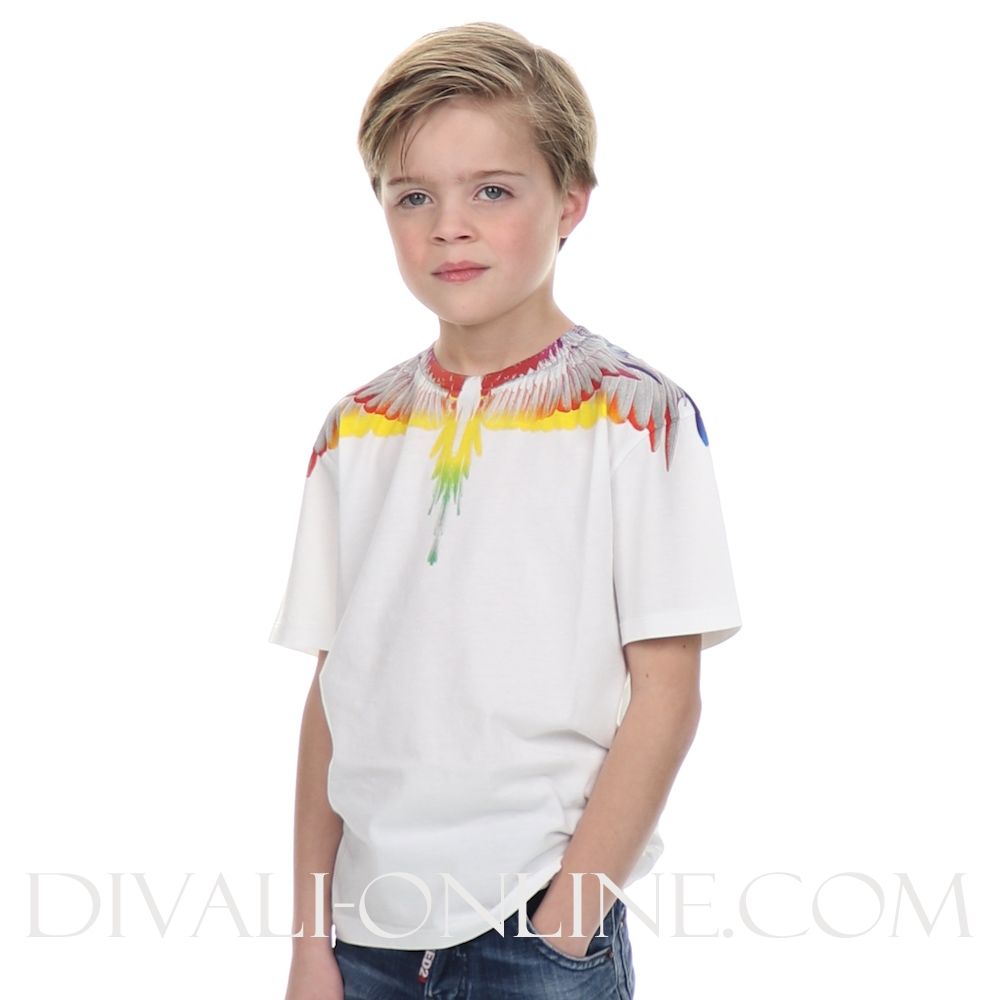 T-shirt w.multicolor  Withe
