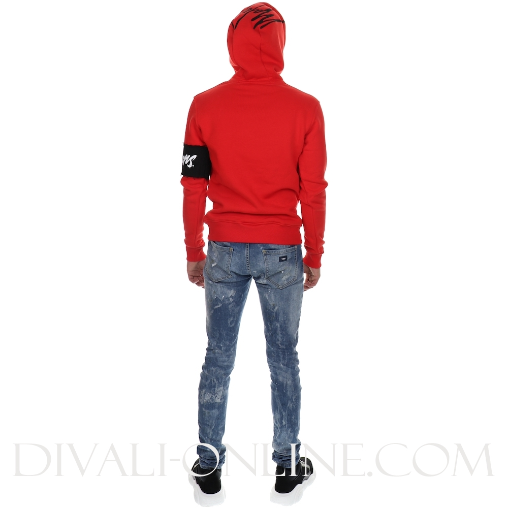 Hoodie Captain Red-Black-white