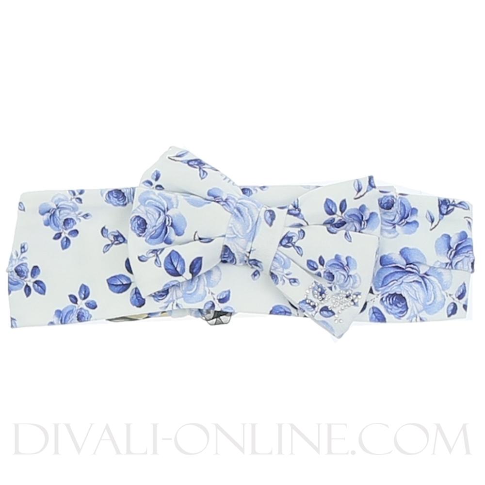 Haarband, Blue flowers