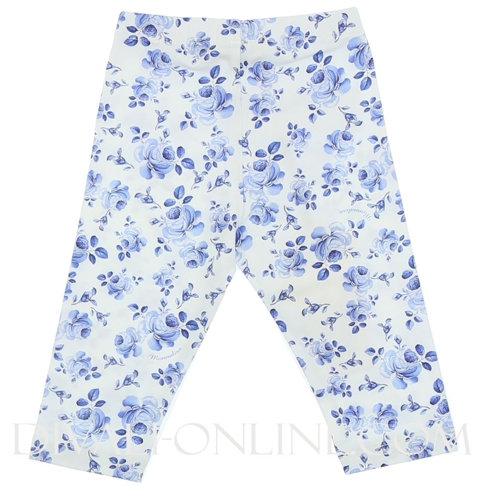 Legging, Blue flowers