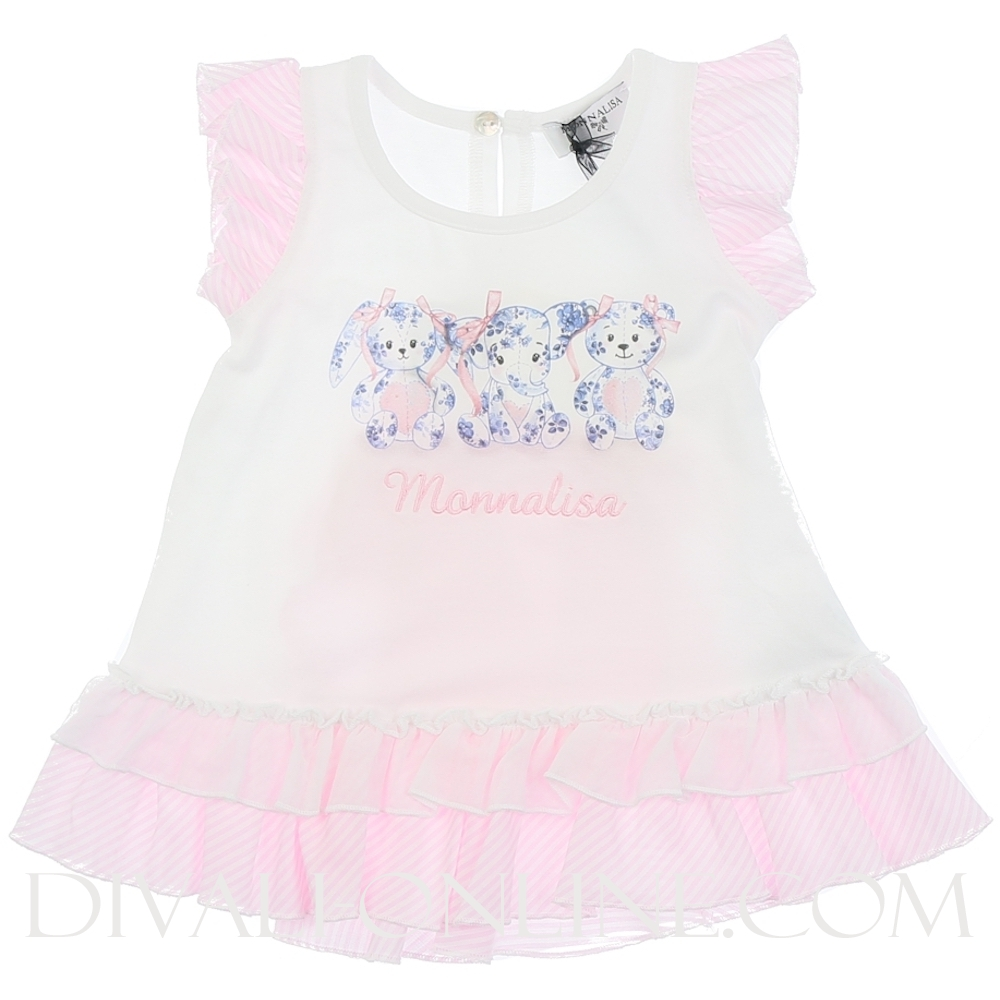 T-shirt, Pink teddy