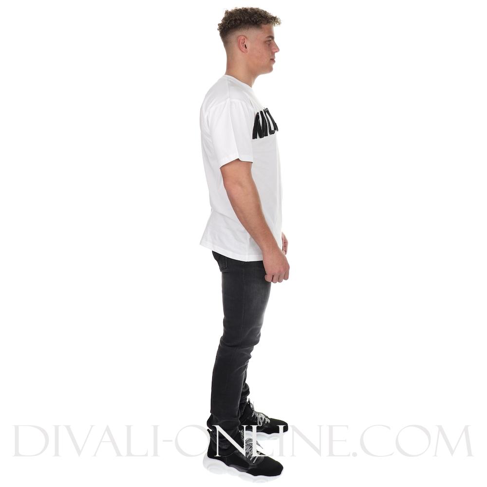 T-shirt Zipper logo White