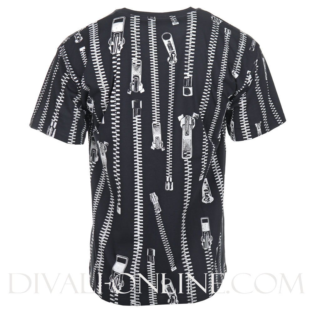 T-shirt Zipper Print Navy