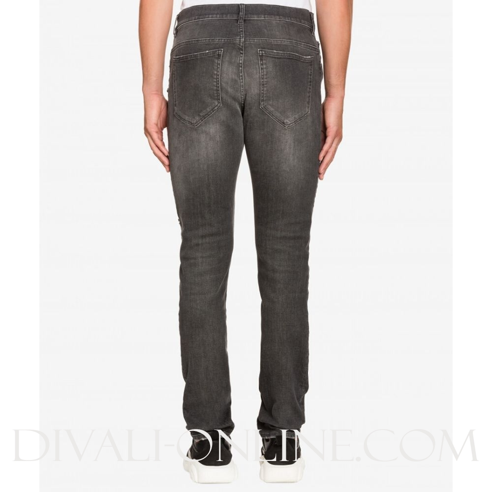 Jeans Zipper Grey
