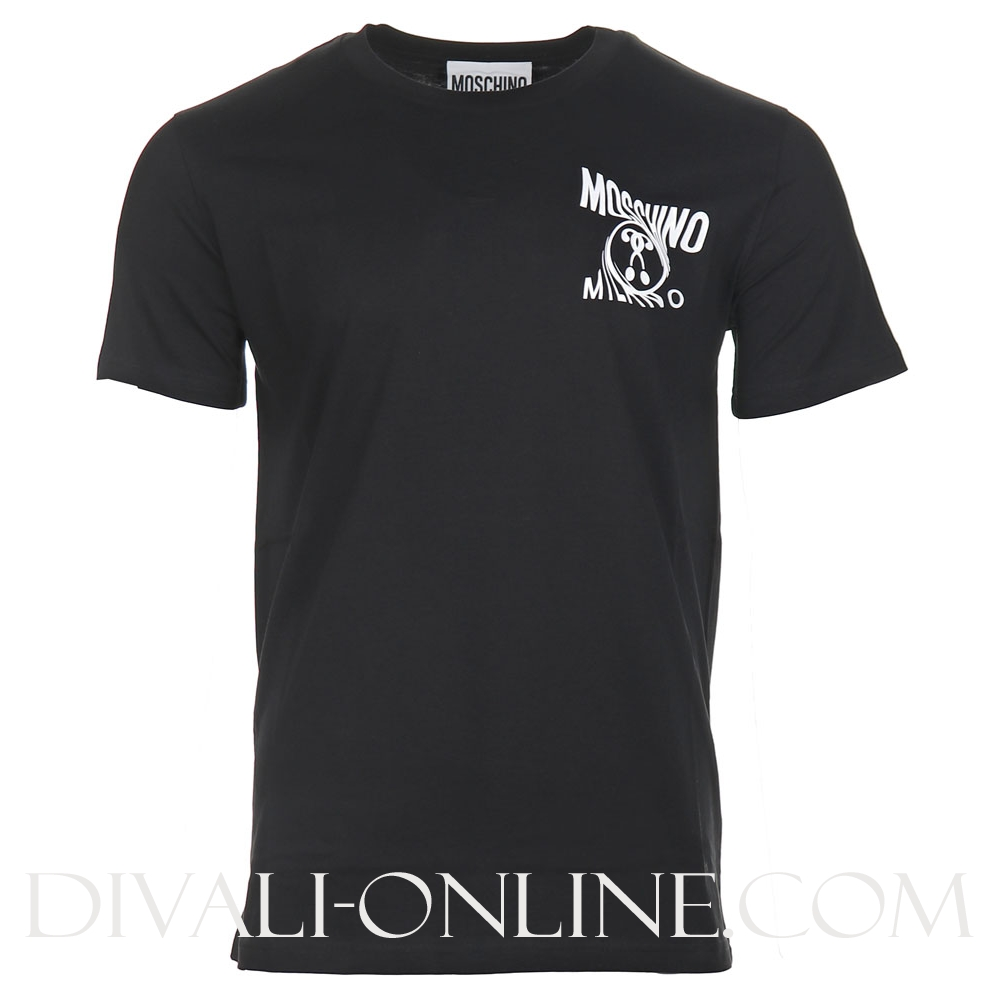 T-shirt Small Double question mark Black