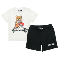 Moschino T-shirt+shorts White/black