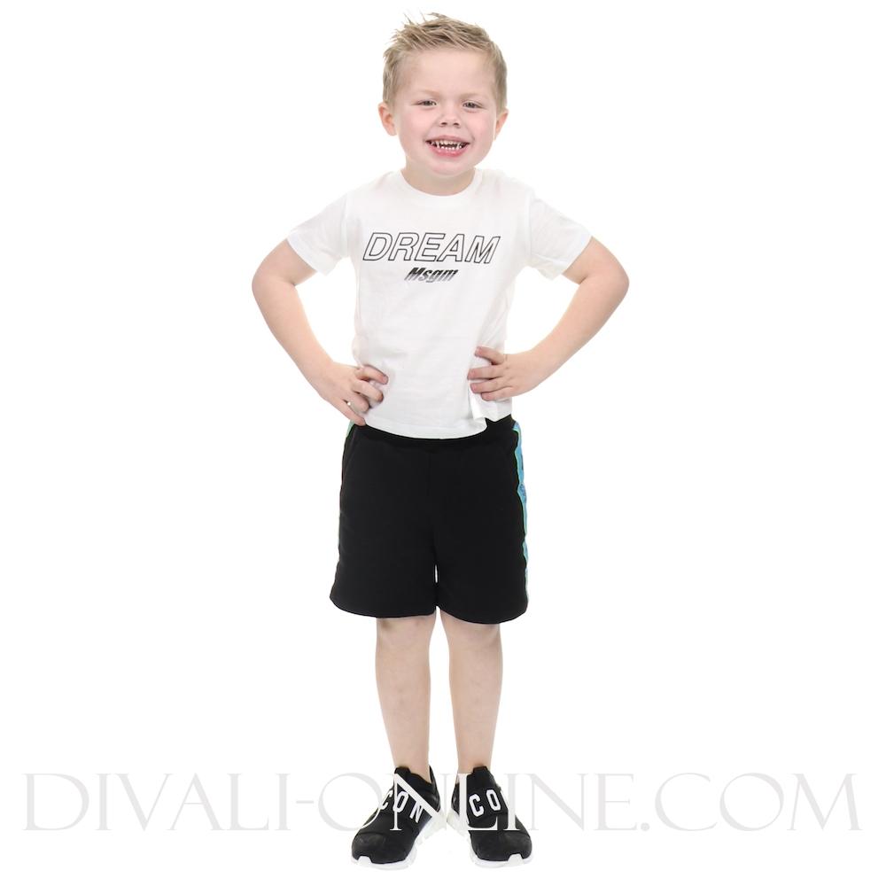 Completo Jersey Baby Boy White-black
