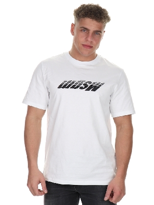 T-shirt Upside down White-black