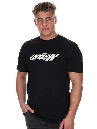 T-shirt Upside down Logo Black-white