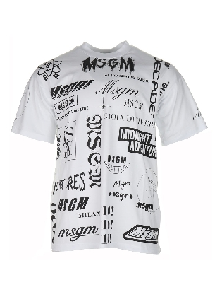 T-shirt Text White
