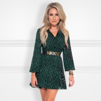 Nikkie By Nikkie Plessen Saar Short Dress Hunter