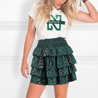 Nikkie By Nikkie Plessen Skirt with ruffles and snake print