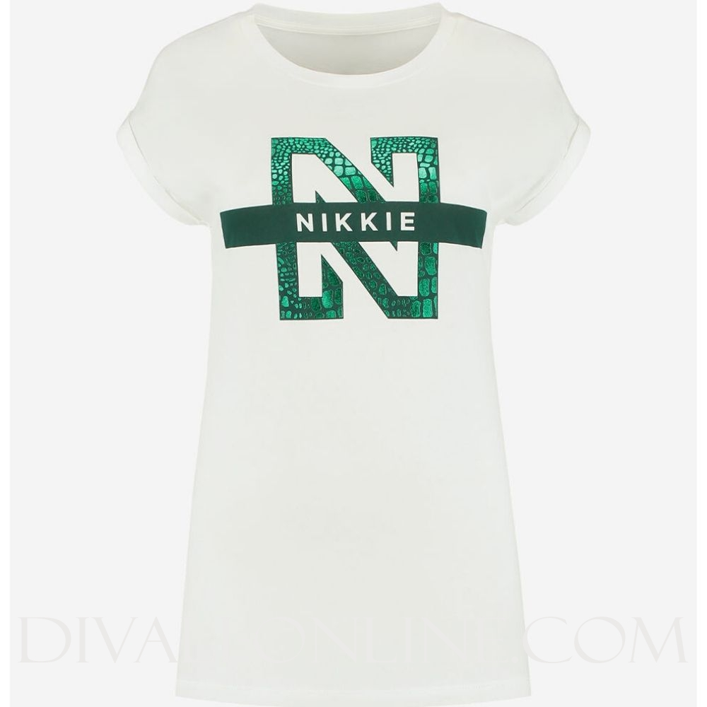N Logo Snake T-Shirt Off White
