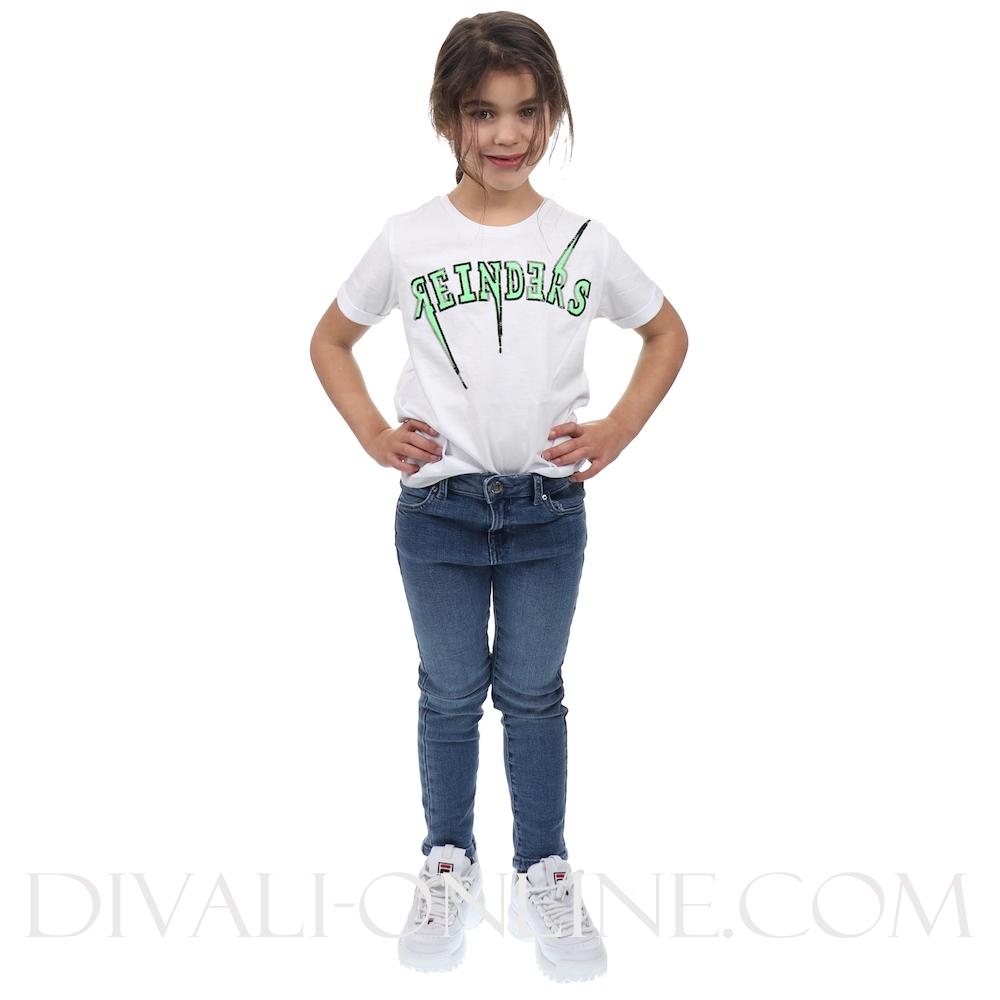 T-shirt Reinders Bolt Oversized White Neon Green