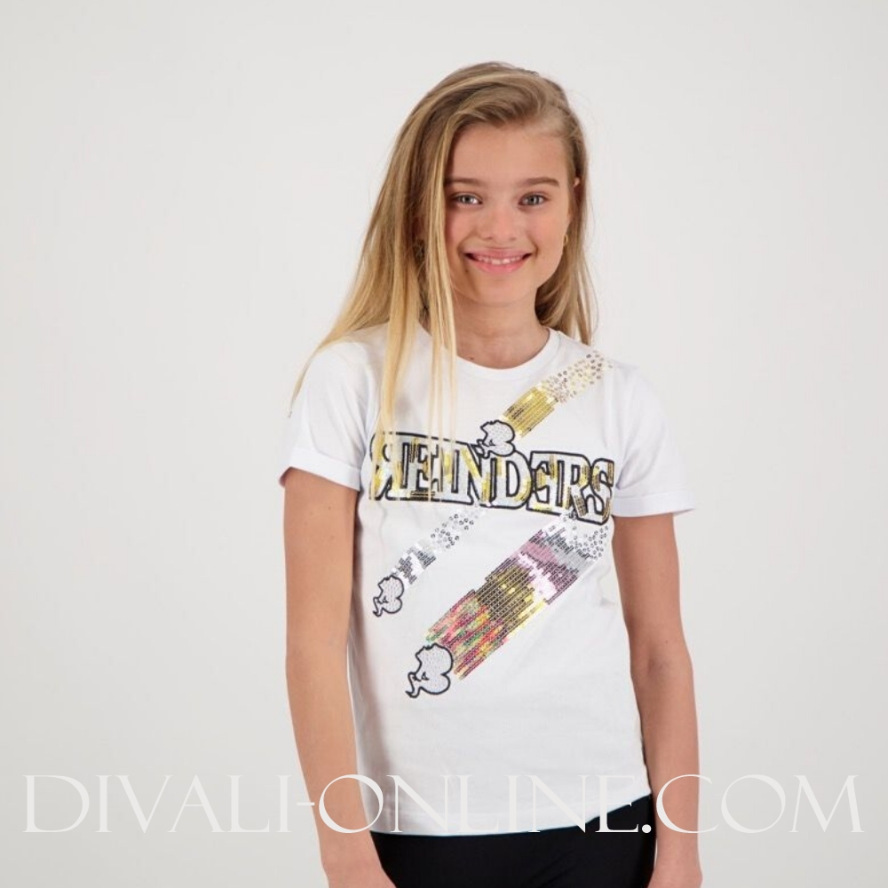 T-shirt Reinders Sequins Oversized White