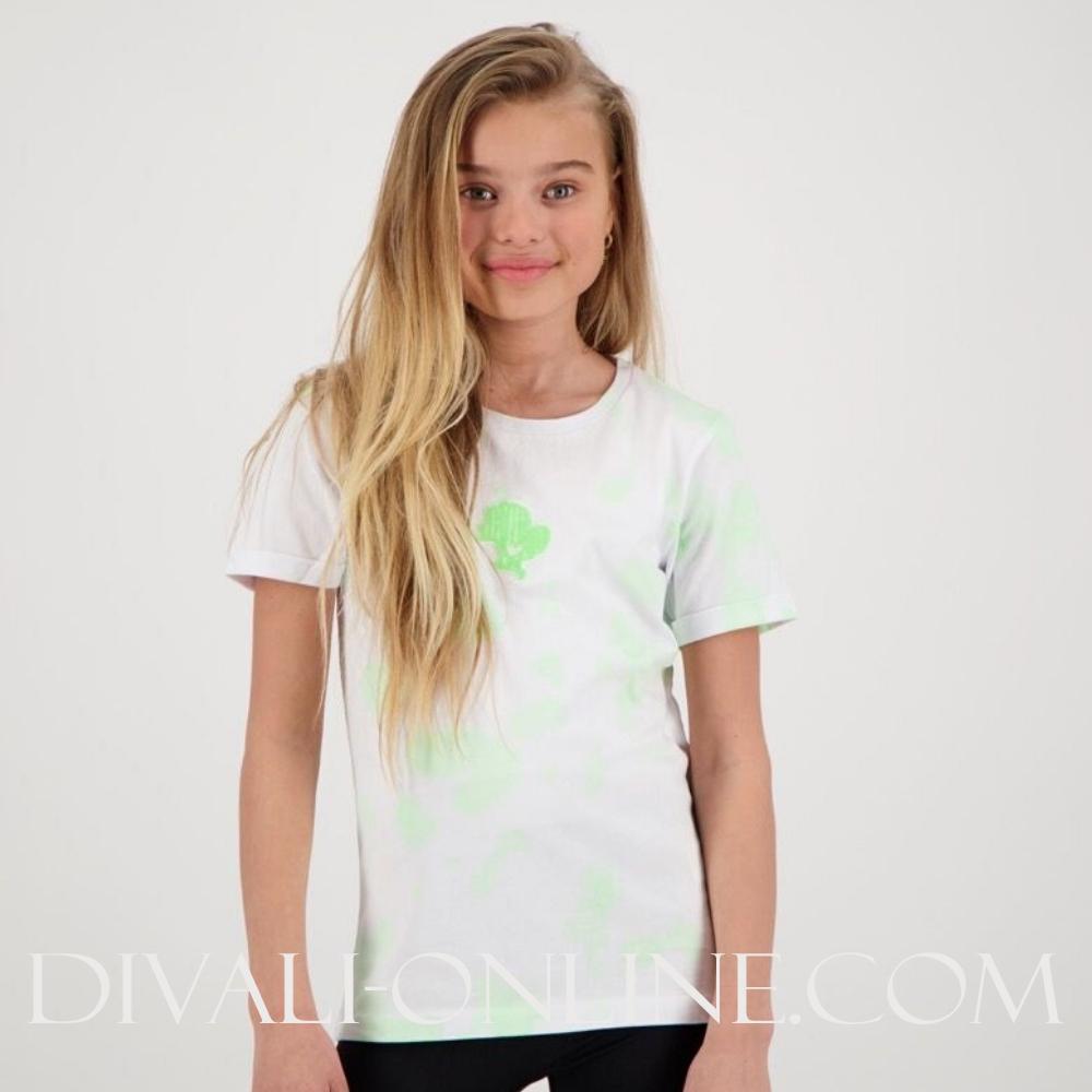 T-shirt Reinders Tie Dye White Neon Green